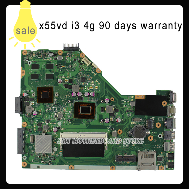 For ASUS  X55VDR motherboard 4G RAM i3 cpu rev3.1 100% tested integrated original new motherboard for asus x55vdr motherboard 4g ram i3 cpu rev3 1 100% tested integrated original new motherboard