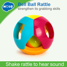 Купить с кэшбэком HUILE TOYS 939-5 Baby ToysBell Ball Geometric Shape Plastic Rolling Ball and Baby Rattle Learning Educational Toys 0-12 Months