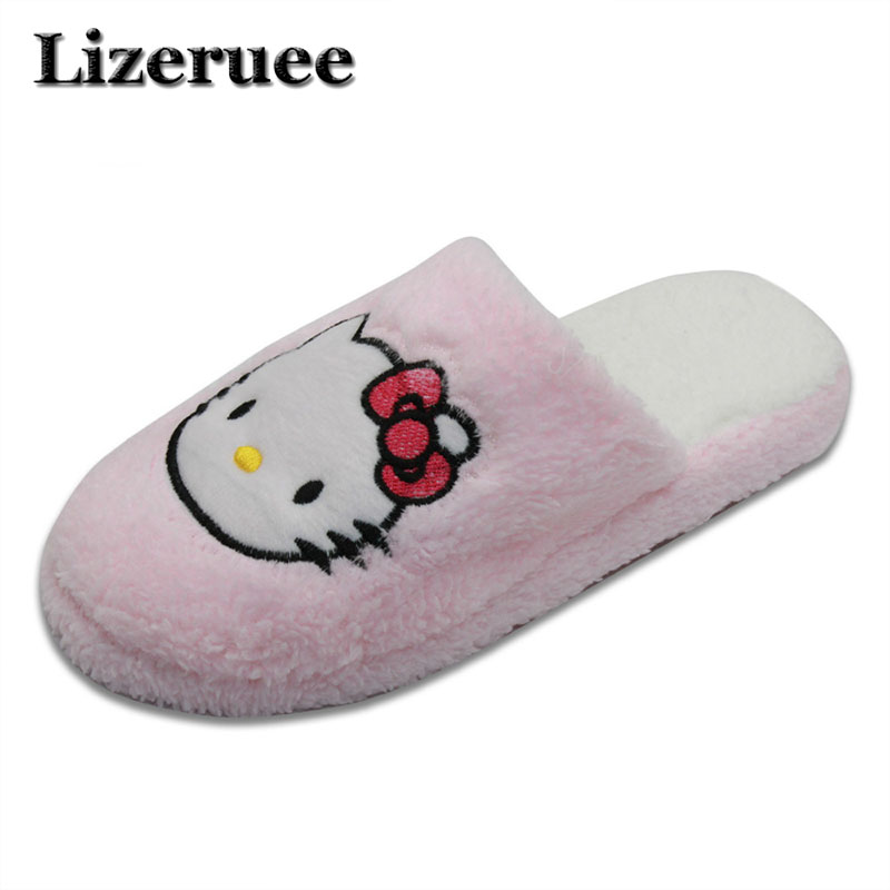 New Arrival Women Cute Pig Home Floor Soft Stripe Slippers Female Comfortable Cotton-padded Warm Slippers Shoes Q42