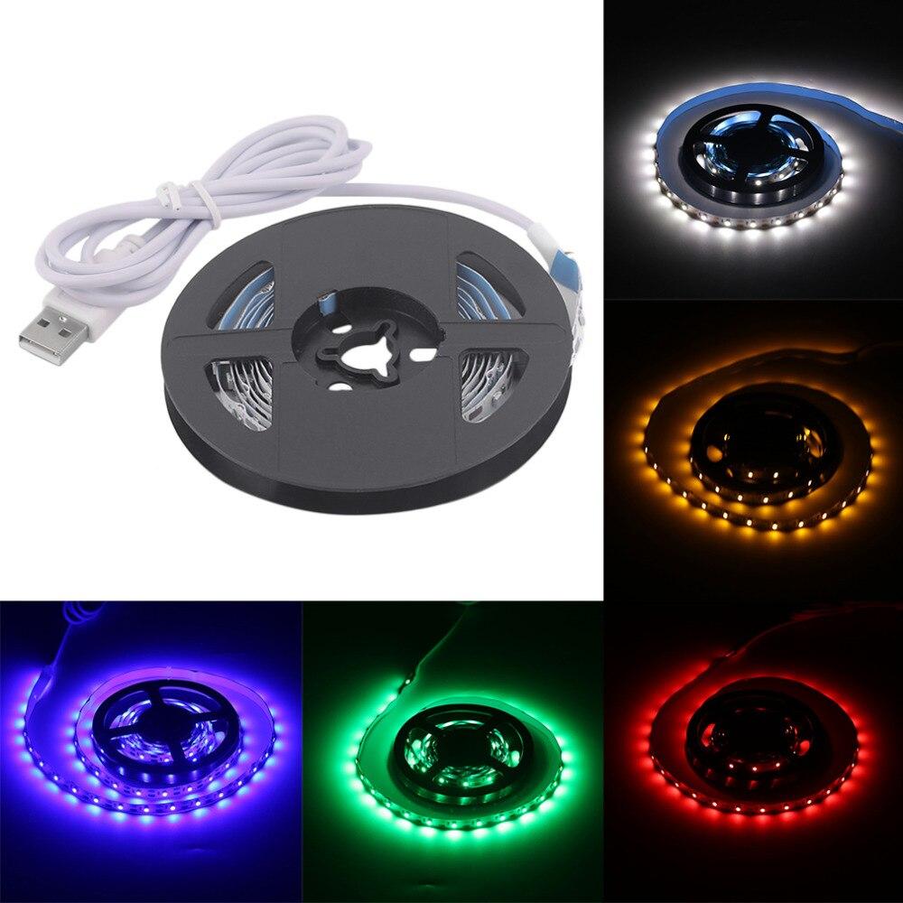 Indoor Outdoor Led Light Strip: 2017 USB LED Strip Lights SMD3528 200CM Flexible LED Tape