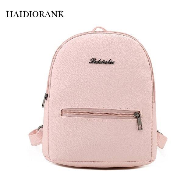 2018 Fashion Women s Cute Candy Little Backpacks For Teenage Girls PU  Leather Bag Waterproof Small BagPack Sweet Mini Backpack 4829db2176996