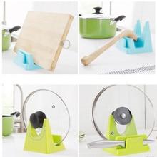 Spoon Rack Rest Pot Lid Rack Stand Holder Kitchen Cooking Utensil Tool Water pan cover frame Stylish kitchen utensil standA30315
