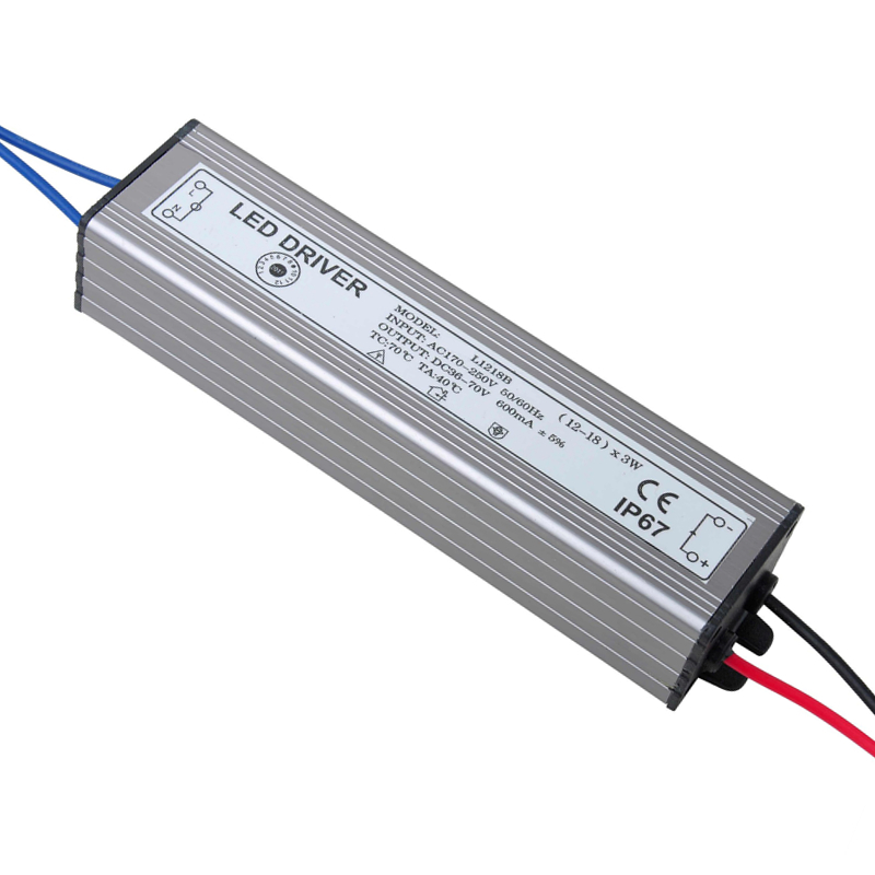 PHISCALE 36-54W LED Driver Power Supply Waterproof IP67 Constant Current AC100-260v 600mA For 36-54W LED Bulb