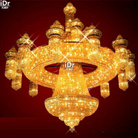 gold Chandeliers simple luxury polished hall corridor lights bedroom lamp large crystal lamp 400cm W x 460cm H