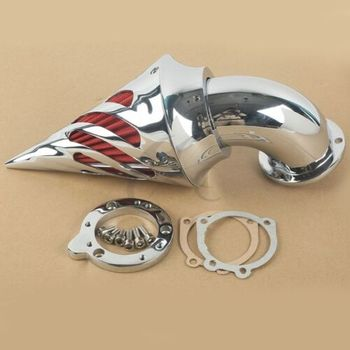 Motorcycle Spike Air Cleaner Intake Filter For Harley CV S&S Carburetors Sportster Chrome/Black