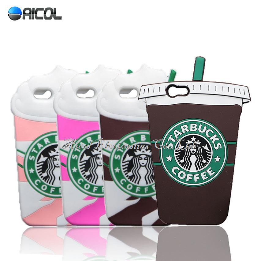 Ice Cream Starbuck Coffee Cup Case For iPhone 4S 5S SE 6 6S 7 Plus For Samsung S3 S4 mini S5 S6 S7 edge A5 A7 J5 J7 2016 J1 ACE