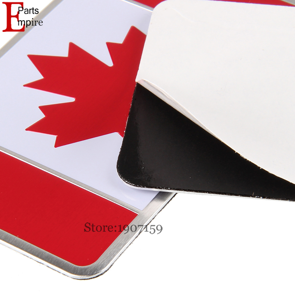 US $5 05 |Car Styling Aluminium Alloy Canada Canadian Flag Logo Emblem Car  Sticker Badge For VW Subaru Chevrolet Dodge Toyota Mazda 8x5cm on