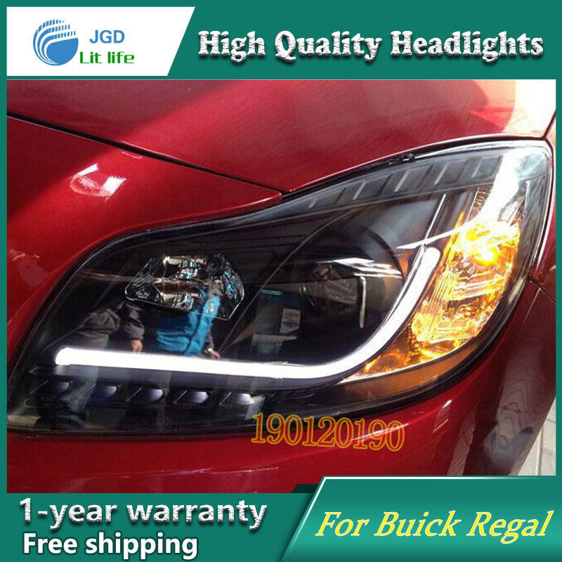 Brand New Styling for Buick Regal LED Headlight 2009-2013 Headlight Bi-Xenon Head Lamp LED DRL Car Lights 2016 stainless steel car styling front cup holder panel sequins for buick regal 2009 2016 car accessories decoration sequins