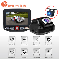 SmallAntTeach DVR Registrador Del Coche DVR Wifi Dual Lente Dash Cam Novatek 96658 Grabador de Vídeo Full HD 1080 P 2.45