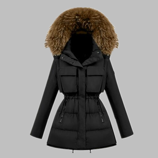 High quality new 2019 fashion women winter coat white duck down jacket slim ladies winter jackets   parkas