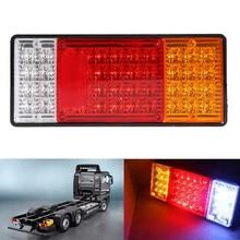2Pcs 44LED Truck Rear Tail Lights Waterproof Trailer Warning Lamp For 12V 24V Vehicles