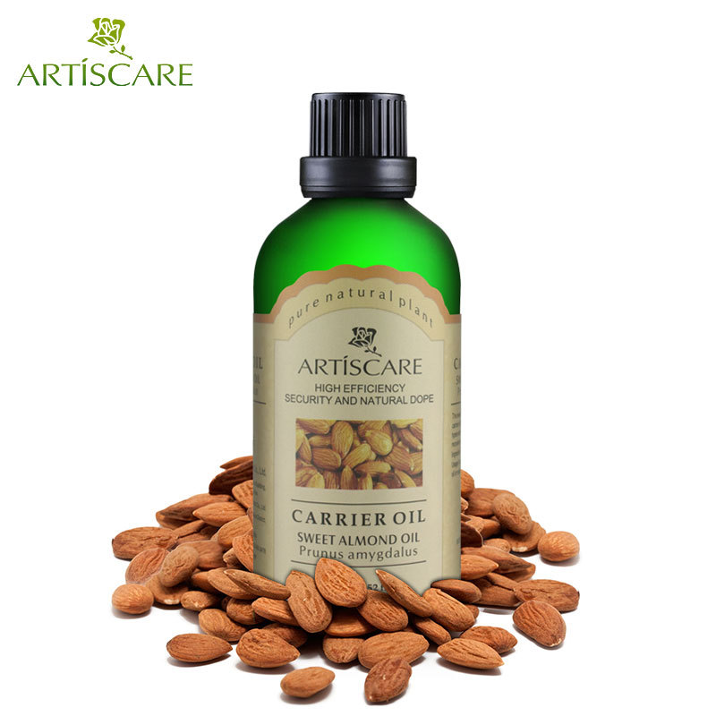 ARTISCARE Sweet Almond 100ml For Moisturizing Hydrating Tender Humectants Hair Care Skin Care Massage Base Oil Essential Oils
