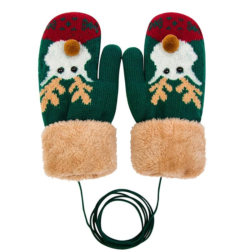 MLTBB Brand Women Winter Gloves Christmas Elk Gloves Women's Gloves Full Finger Knitted Warm Glove Mittens Female