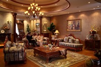 Red Oak Solid Wood Sofas Furniture Sets Fabric Sofas For Living Room Luxury Home Furniture With