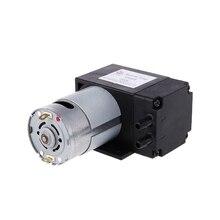 Mini bomba de vacío de 12V, 8L/min, bomba de diafragma de succión de alta presión con Soporte C