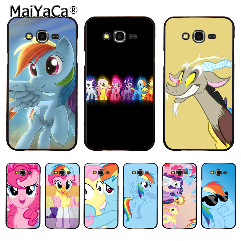 MaiYaCa blue pink My Little Pony Rainbow Dash Clouds cartoon Phone case for samsung J5 j1 j3 j7 note 3 note4 note5 case coque ...