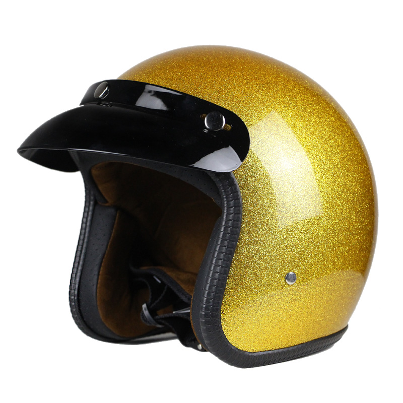 Hot Sale Unisex Vintage Motorcycle Helmets Open Face Half Motorbike Helmet Capacete free shipping S M