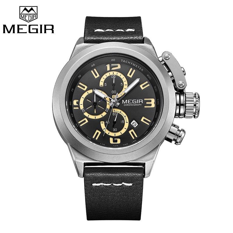 Prix pour MEGIR Quartz Hommes Montre Lumineux Relogio Masculino Multifonction Montres Hommes Horloge Chronographe Montres pour Hommes Reloj Hombre