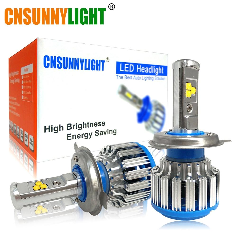 CNSUNNYLIGHT H4 Hi/lo H7 H11 9006 Car LED Farol 9005 HB3 HB4 H1 H13 High Power Super Branco 6000 k Lâmpadas Substituir Lâmpada Original