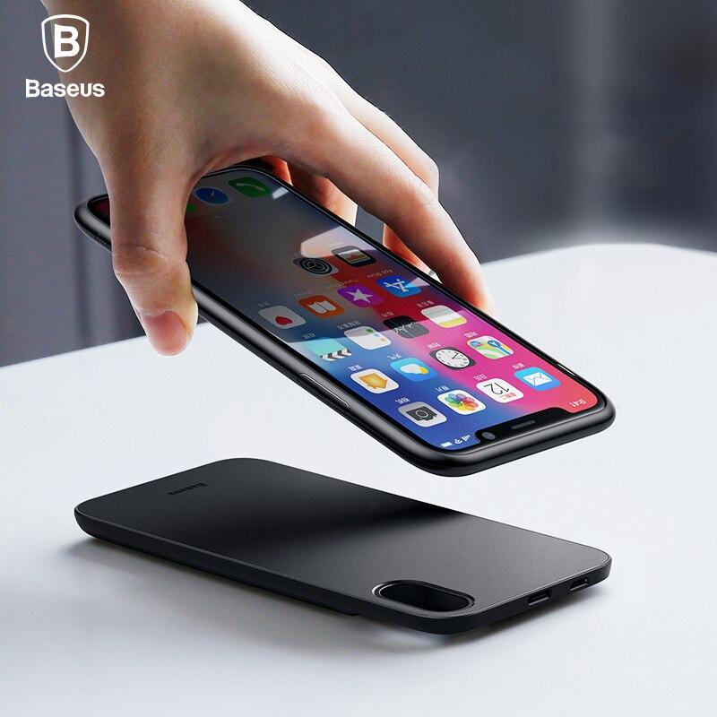 Baseus 5000 mAh QI Sans Fil Chargeur Cas Pour l'iphone X Externe Batterie De Sauvegarde Sans Fil De Charge Banque de Puissance Pour Samsung S9 Huawei