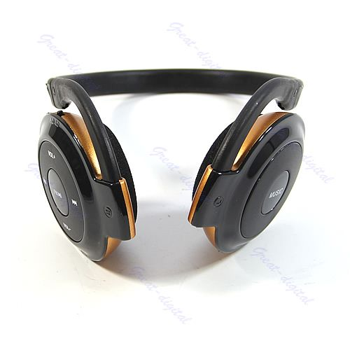 OOTDTY Wireless MP3 Player Headphone Headset Earphone FM Radio Support TF Card stylish neckband headphones mp3 player headset w fm tf card slot blue black