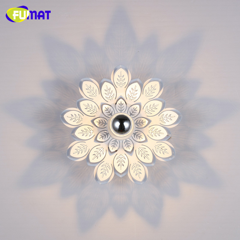 FUMAT Leaves Shadow Ceiling Light Modern Surface Mounted /Embedde LED Celing lamp for Balcony Aisle Light Metal Ceiling Light