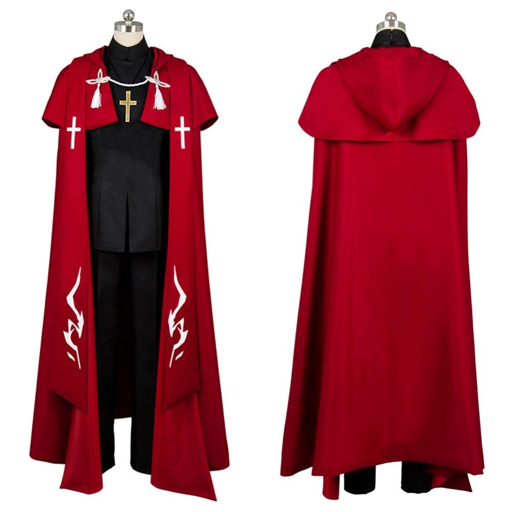 Cosplay Fate Grand Order Amakusa Shirou Tokisada costume red set cosplay Halloween Costume Girls'dress Carnival Costume Full Set