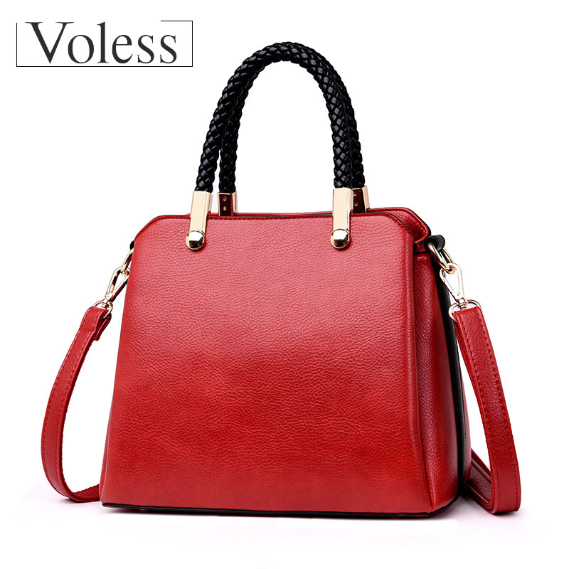 VOLESS Fashion Shoulder Women Large Capacity Bags PU Leather Handbags For Women Female Casual Tote Bag Bolsa Feminina Sac A Mian forudesigns fashion flower painting women casual tote bags large crossbody messenger bags for women female bag bolsa feminina