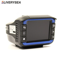 цена на SLIVERYSEA 720P 3 in 1 Car DVR Cmera/Radar Speed Detector/GPS Track Recorder Car Detector Recorder With Russian Language Voice