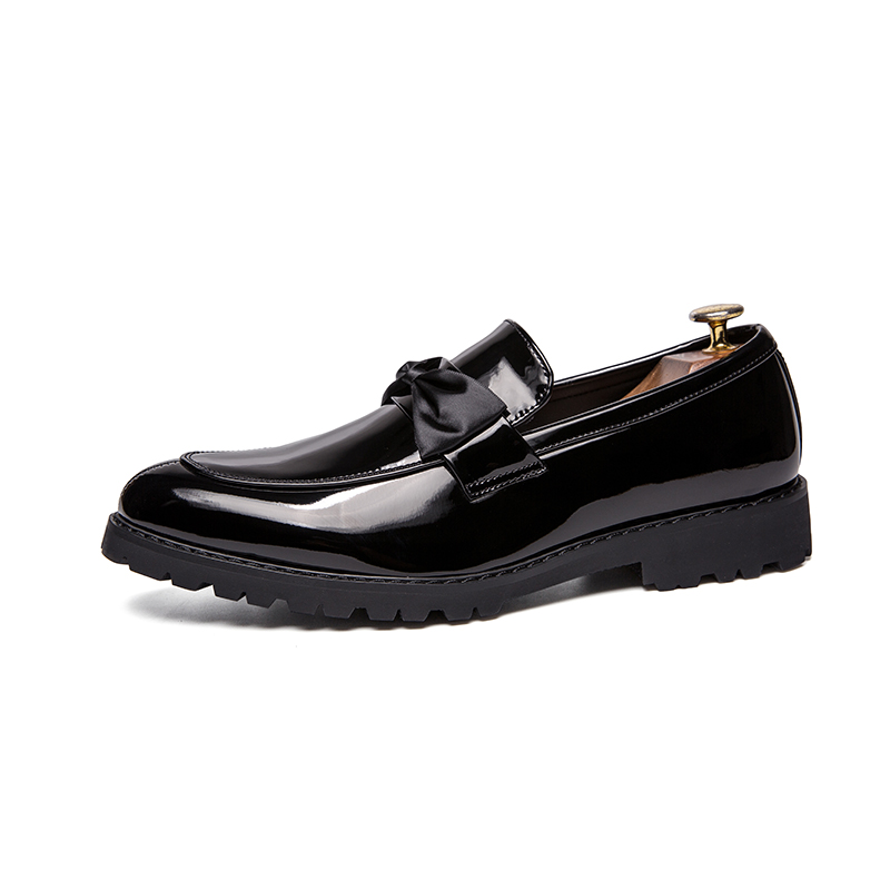 formal men leather shoes male trend Bow slip on footwear cool italian luxury brand wedding dress moccasins oxford shoes for men (1)