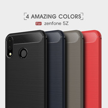 Carbon Fiber Case For Asus Zenfone 5Z / 5 2018 ZE620KL Soft Cover ZS620KL Phone Fundas
