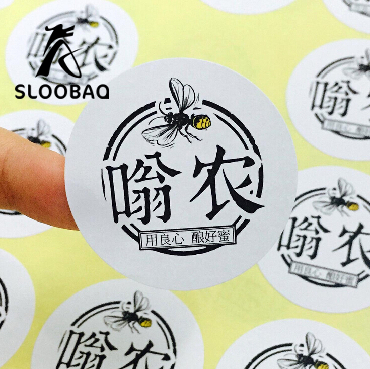Custom Print Sticker Labels White Paper Or Clear Pvc Stickers Logo Text Adhesive Stickers 1000pcs Lot