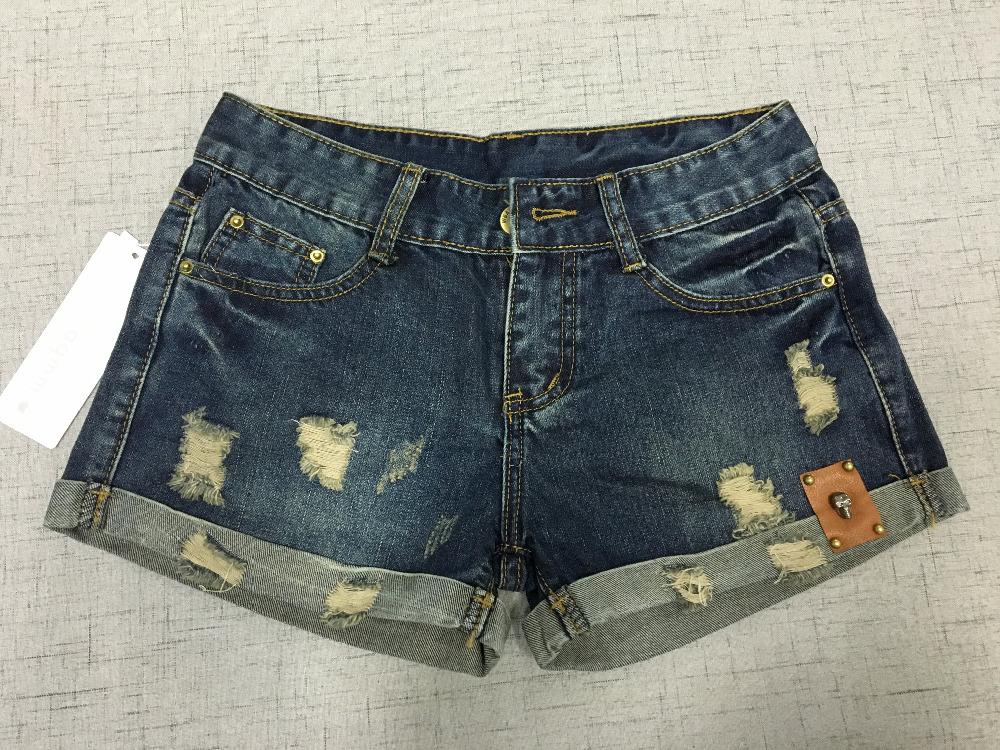 Vintage Club Denim Ripped Shorts 4