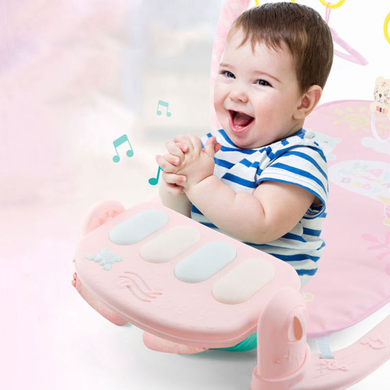 Baby Play Mat 3 in 1Baby Gym Toys Soft Lighting Rattles Musical Toys For Babies Educational Toys Play Piano Gym Baby Gifts   Happy Baby Mama