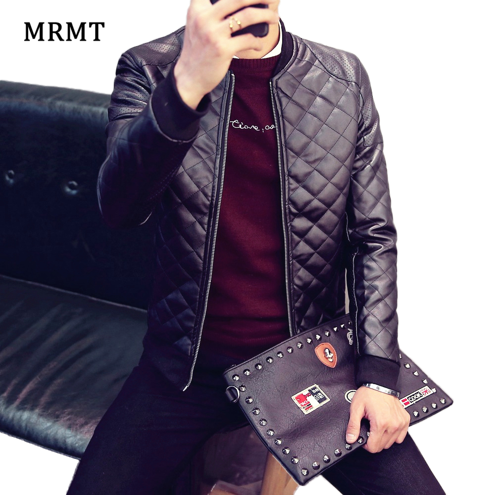 2018 Brand New Leather Clothing Mens Jacket Coat Fall Winter Biker