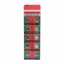 10pcs/pack AG10 LR1130 389 SR1130 Button Batteries 189 LR54 Cell Coin Alkaline Battery 1.55V SR54 389 189 For Watch Toys Remote стоимость