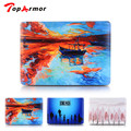 TopArmor Flower Map Color Pattern Hard Case Cover For Apple Macbook Air 11 13 Pro 13 15 Retina 12 13 15 inch Protector Shell bag