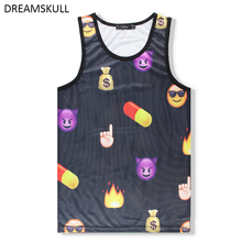 Summer Beach Sleeveless Tops Fashion 2017 Mens Quick-drying Loose Casual Hip Hop Funny Undershirt Fitness Mens Tank Tops Vest