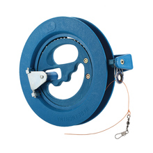 Round Blue Plastic ABS 16cm/18cm Kite Reel Winder + 90m/180m Line Handy Ballbearing with Pull Out Handle