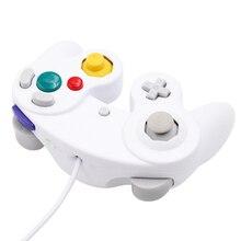 Kablolu oyun kolu Gamepad şok sopa JoyPad titreşim için Nintendo Wii için GameCube NGCController Pad Joystick