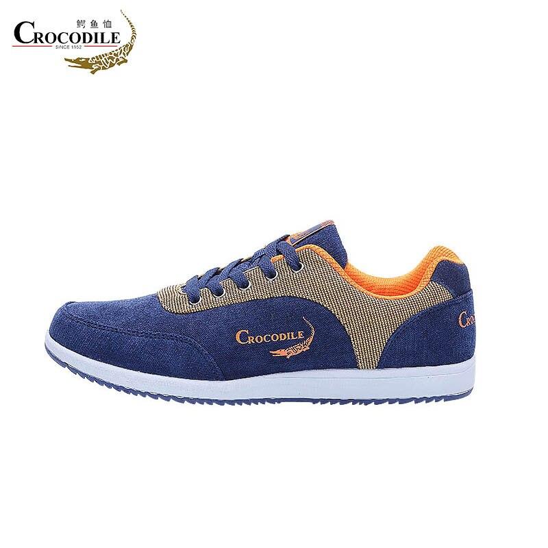 Купить с кэшбэком Crocodile Men Running Sneaker Shoes Male Casual Skate Athletic Shoes Men Canvas Skateboard Shoes Breathable Footwear Loafers