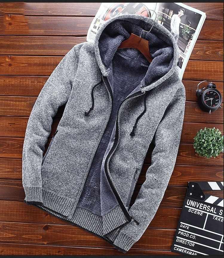 Новинка зимы 2018, мужской свитер с капюшоном, мужской толстый свитер, куртки, пальто, повседневный теплый свитер, вязаная Верхняя одежда M-3XL