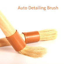 2019 New Beech Handle Bristles Hair Brush Car Wheel Rim Clean Interior Air Vent Engine Brush Car Wash Auto Detailing Accessory david kent ballast interior detailing concept to construction
