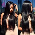 Peruvian Virgin Hair With Closure Straight 3 Bundles 7A Peruvian Virgin Hair Straight With Closure Top Lace Closure With Bundles