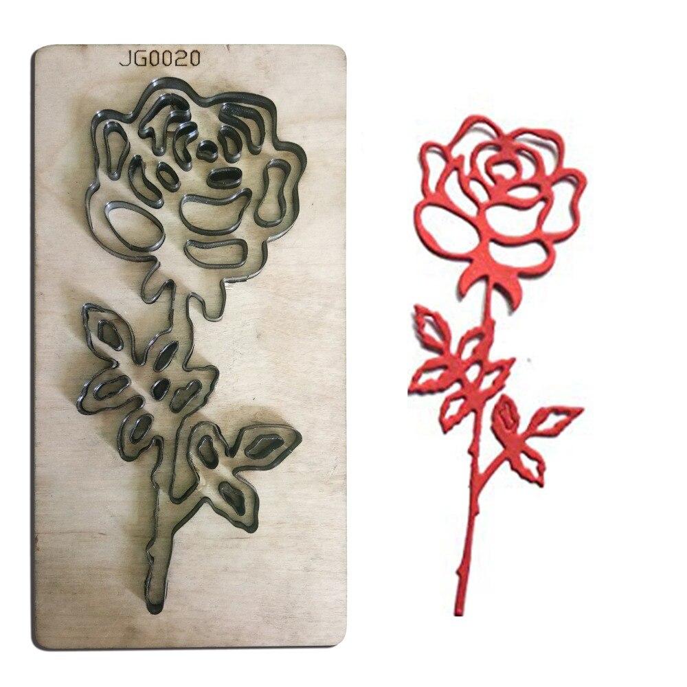Роза цветок границы деревянные штампы вырезать аксессуары для форм для DIY бумаги, кожи, фетра, стальной пробойник ремесла фото карты Скрапбукинг Декор