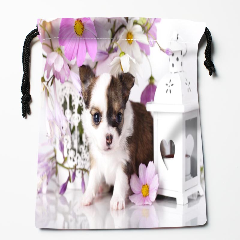 Custom Chihuahua Dog Drawstring Bags Custom Printed Gift Bags More Size 27x35cm Compression Type Bags