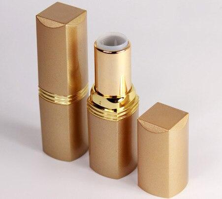 50 pcs/lot tube de stick à lèvres en aluminium couleur or vide 5g, directement 5 ml couleur or rouge à lèvres