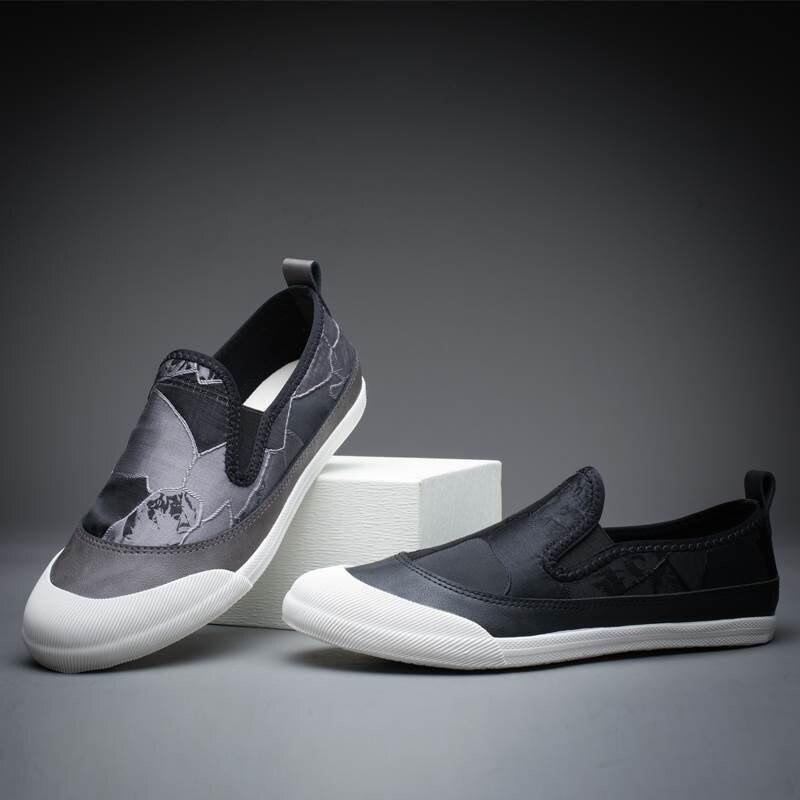Hombre Slip 1 Formateurs Toile Classiques Chaussures Vulcanisé 2 Mocassins Zapatos Sur 2018 Mode Hommes Sneakers Zapatillas PanUwqwX
