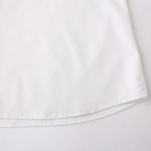 Image 4 - تي شيرت رجالي أبيض مقاوم للتجاعيد مصنوع حسب الطلب سليم تيشيرت ضيق بأكمام طويلة للرجال