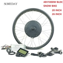 EINES TAGES 48V1000W fett reifen Elektrische Fahrrad conversion kit E-bike BLCD schnee bike Hinten kassette rad hub Motor mit LCD3 display